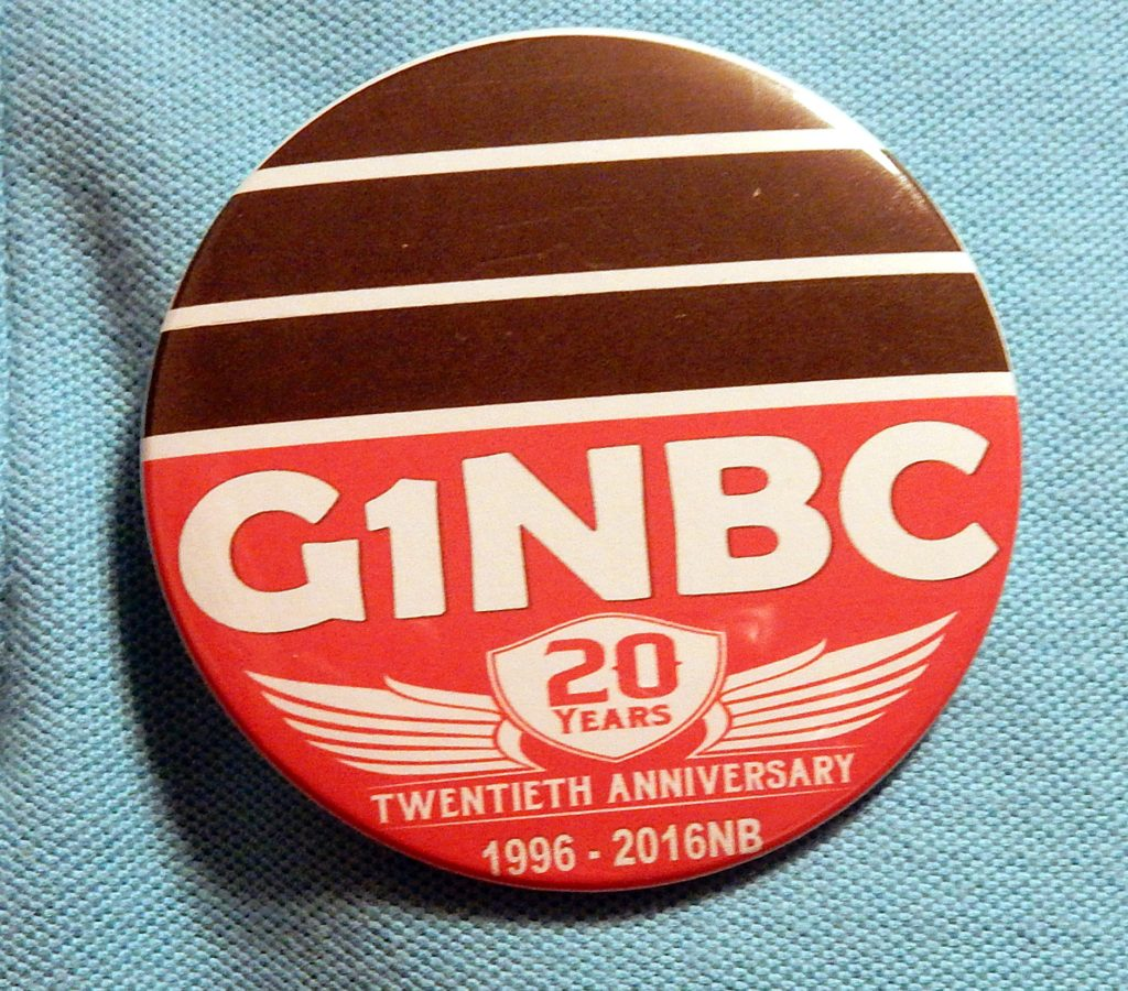 G1NBC 20th Anniversary buttons for sale on-line
