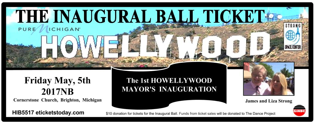 THE INAUGURAL BALL TICKET May 5 2017NB ON SALE